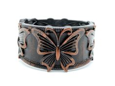 Antique Look Butterfly Bangle/ Free Shipping $5.00