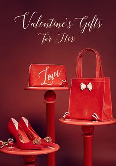 SHOP VALENTINE'S GIFTS FOR HER: Fall head over heels with Ted's gifts for her. Whether she loves red heels or just a wash bag for he essentials, make sure to check out Ted's selection for presents that she will cherish a lifetime.