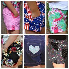 Little Honeybuns. Girls Flat Front Shorts pdf sewing pattern.  http://www.patternemporium.com/product/little-honeybuns-girls-shorts  We  options & details