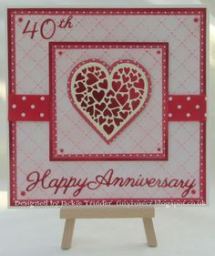 homemade anniversary cards for husband husband ruby anniversary