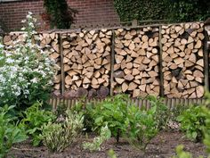 Mike and Carol's Log store in their NGS Garden