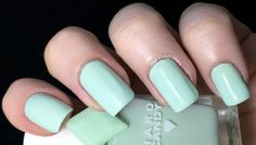 """#tbt Nail It. They're baa-aack! For its 20th annniversary, Hard Candy has revived five classic colors-including Alicia Silverstone's 90's fave, """"Sky""""-and added a few new shades too. Even better: Like the good ol' days, they come with matching jelly rings.  Hard Candy Nail Color in Mint, $4; at Walmart"""