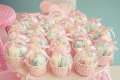 decoração com marshmallow para cha de bebe