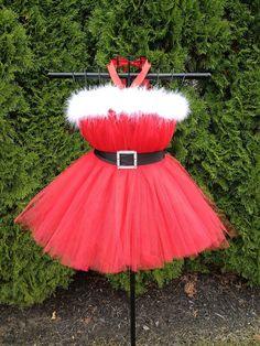 Santa Baby Tutu Dress by AudreysTutus on Etsy, $30.00- So Claire!