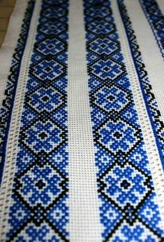 Folk Embroidery, Beaded Embroidery, Cross Stitch Embroidery, Cross Stitch Patterns, Plastic Canvas Crafts, Tapestry Crochet, Stitch Design, Tribal Art, Hand Stitching