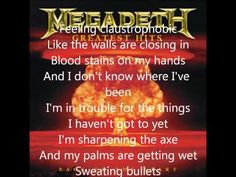 Megadeth - Angry Again (lyrics)-Mr Music 1 Megadeth Lyrics, Rock Music Quotes, Lyric Quotes, Society Of Jesus, Dave Mustaine, Thrash Metal, Kinds Of Music, Best Songs, Greatest Hits