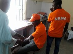 Photos: NEMA officials donate blood to sick IDPs    NEMA officials donated blood to Internally Displaced Persons on sick bed at Federal Medical Center as part of the humanitarian service render to the IDPs in Yola Adamawa state. More photos after the cut...   news