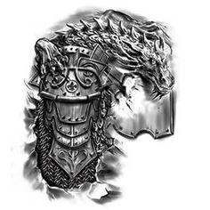 Dragon armor tattoo tattoo designs gallery of artwork and videos Schulterpanzer Tattoo, Norse Tattoo, Viking Tattoos, Samoan Tattoo, Polynesian Tattoos, Armour Tattoo, Body Armor Tattoo, Body Art Tattoos, 3d Tattoos