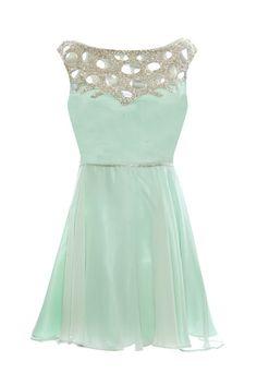 mint party pretty dress.