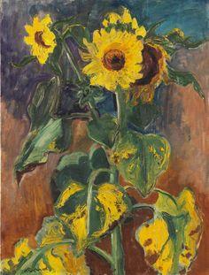 Hermann Max Pechstein (German,1881 - 1955) Sunflowers (Sonnenblumen), 1948