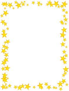 Gold Stars SCattered Border Borders For Paper, Borders And Frames, Page Borders Free, Page Boarders, Picture Borders, Printable Border, School Border, Border Templates, Happy Birthday Wallpaper