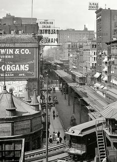 Wabash Ave. Chicago  1907