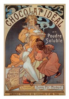 Chocolat Ideal Print by Mucha