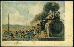 China-Russian Railway Postcard