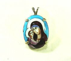 Hand Painted Cameo Mary & Child Spiritual by SylCameoJewelsStore