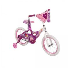 Bicycle Training Wheels - 16 Huffy Girls Disney Princess Bike with Training Wheels Heart *** For more information, visit image link. Kids Bicycle, Bicycle Girl, Disney Princess Bike, Kids Bike Accessories, 20 Inch Bike, Bike With Training Wheels, Pink Bike, Bike Chain, Ride On Toys