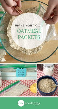 These instant oatmeal packets are easy to assemble and make a great breakfast when you are pressed for time on busy mornings!