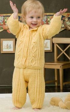 Novita Oy - Neulemalli: Neulottu vauvan palmikkojakku (Muksuextra 2008) Little Boys, Rompers, Knitting, Kids, Dresses, Fashion, Toddlers, Vestidos, Moda