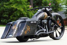 bagger road king pics | 2012 Road King Custom Bagger – 30″ Wheel – 120R Screamin ...