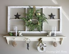 This falls under Decorating & Creative Ideas...love this look...if only I had another wall. :) COUNTRY GIRL HOME
