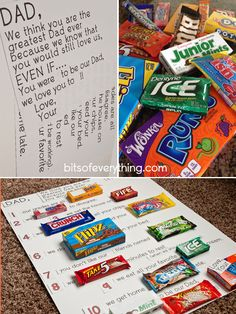 Candy Bar Letter - Father's Day Card - Bits of Everything