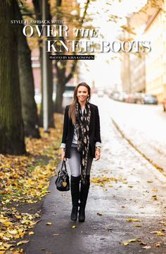 over the knee boots alexander mcqueen scarf street style ootd fall outfit