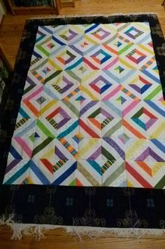 "Summer in the park quilt.  This would be fun to do with my 1 1/2"" strips.  Make a nice neonatal quilt."