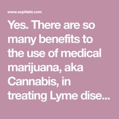 Yes. There are so many benefits to the use of medical marijuana, aka Cannabis, in treating Lyme disease that a whole book could be written. In fact, a whole book now has been written. If you are sick with Lyme disease or other chronic conditions, please read Cannabis for Lyme disease and Related Conditions by …