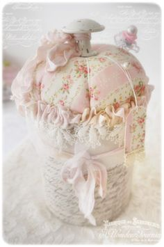 shabby pin cushion