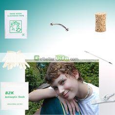 US$1.29 - Sterile Eyebrow Stud Studs Body Piercing Jewelry Needle Tool kit