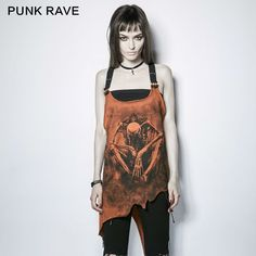 Punk rock Gothic Victorian Fashion Casual Sexy Personality Summer Print Women Tee shirt PT112 Free Shipping