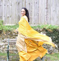 Parental Gifts: My New Yellow Lehenga. Yellow lehenga worn with beautiful gold kaanphool earrings and an Isharya ring.