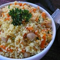 Couscous with Chickpeas and Carrots Recipe