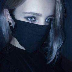 She enjoys wearing masks Girl Photo Poses, Girl Photos, Hair Reference, Fashion Tights, Grunge Girl, Girl Inspiration, Sad Girl, Blue Aesthetic, Gothic Aesthetic