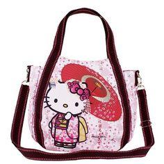 Hello Kitty 2way Mini Shoulder Bag Lunch Tote Bag Sanrio Free Shipping new 4…
