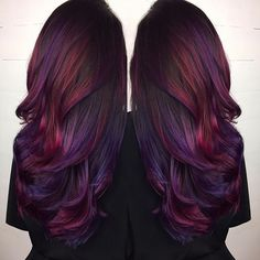 Burgundy Ombre Hair Color