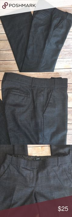 J. Crew favorite fit tweed wool dress pants J. Crew wool fully lined dark gray tweed dress pants. 151/2x9x32 J. Crew Pants Boot Cut & Flare
