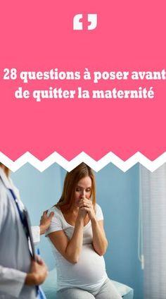 Ça y est ? Bientôt, vous quitterez la maternité ? Vous êtes très excitée de débuter cette nouvelle vie de maman, mais en même temps vous êtes inquiète et beaucoup stressée à l'idée de vous retrouver toute seule avec votre petit loulou et surtout vous ne savez pas quoi faire. Vois les 28 questions à poser avant de quitter la maternité.