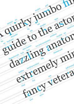 Typographic anatomy: Georgia unravelled on Behance