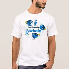 Dory I am Fluent in Whale T-shirt, Men's, Size: Adult S, White Graduation Shirts, Whale Tail, Front Design, Colorful Shirts, Fitness Models, T Shirt, Whale Shirt, Finding Dory, Casual