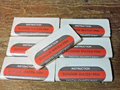 7 Vintage NOS Parker Slinger Digital Quartz W207 Watch Ballpoint Pen Instruction #Parker