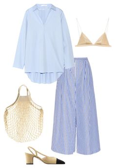 """""""Cruise16"""" by deborarosa ❤ liked on Polyvore featuring MDS Stripes, Acne Studios, T By Alexander Wang and Chanel"""