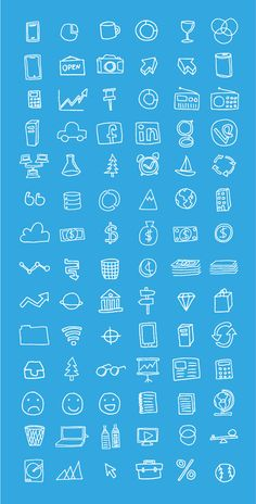 Free Hand Drawn Icons by Tim Degner via 4vector.com | @4vector
