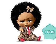 ImgPlanet on Etsy Boss Baby, Girl Boss, Birthday Treats, Girl Birthday, Rainbow Eye Makeup, Light Skin Girls, Baby Clip Art, Black Characters, Polymer Clay Flowers