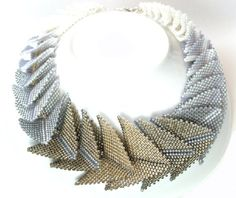 """Stunning """"Thousand Hills Necklace"""" in classic neutrals by Beloved Beadwork in Cape Town, South Africa"""