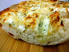 Gorgonzola Garlic Bread / Chez's Note: I love anything with bleu cheese, so this worked out wonderfully for me.  You could even make it as a main dish instead of a side if you prefer.