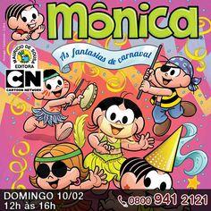 A Turma da Mônica vai agitar o carnaval da criançada na programação do Cartoon Network.     E aí qual será a sua fantasia?     http://www.clarotv.br.com/