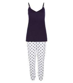 Navy Star Print Pyjama Set | New Look