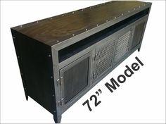 Consola de medios industriales con muebles de estilo por IndustEvo