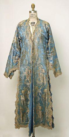 Turkish silk brocade entari, early 20th c